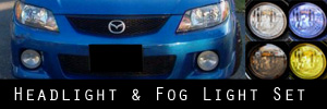 01 Mazda Protege MP3 Headlight and Fog Light Protection Kit