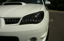 Subaru WRX Smoked Headlight Protection Kit