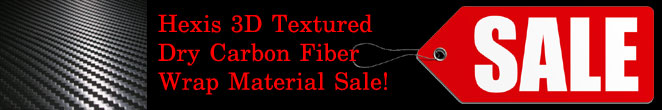 Now Offering 3D Carbon Fiber Wrap Material