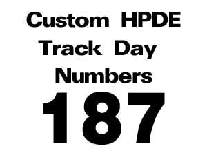 255 Custom Vinyl Racing Number Sets Headlightarmor Scca Nasa Hpde Track Day Print