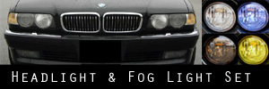 99-01 BMW E38 740i 750iL Headlight and Fog Light Protection Kit