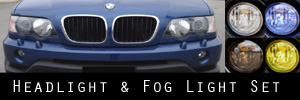 01-03 BMW X5 Headlight and Fog Light Protection Kit