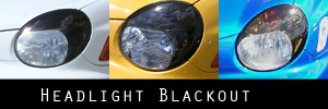 02-03 Subaru Impreza and WRX Headlight Blackout Kit