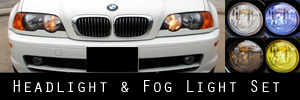 00-03 BMW E46 3 Series Coupe Headlight and Fog Light Protection Kit