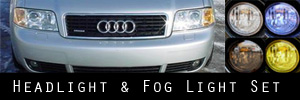 02-04 Audi A6  Headlight and Fog Light Protection Kit