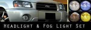 03-05 Subaru Forester Headlight and Fog Light Protection Kit