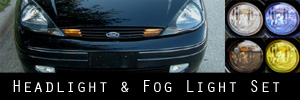 00-04 Ford Focus Headlight and Fog Light Protection Kit