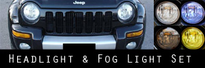 02-04 Jeep Liberty Headlight and Fog Light Protection Kit