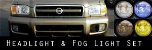 99-04 Nissan Pathfinder Headlight and Fog Light Protection Kit