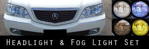 99-04 Acura RL Headlight and Fog Light Protection Kit