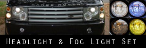 03-05 Land Rover Range Rover Headlight and Fog Light Protection Kit