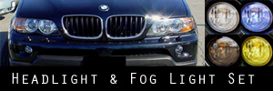 04-06 BMW X5 Headlight and Fog Light Protection Kit
