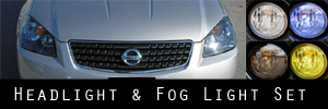 05-06 Nissan Altima Headlight and Fog Light Protection Kit