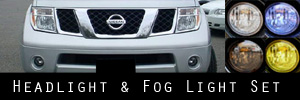 05-07 Nissan Pathfinder Headlight and Fog Light Protection Kit