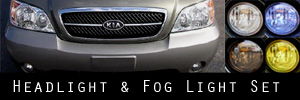 02-05 Kia Sedona Headlight and Fog Light Protection Kit