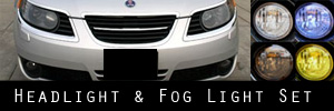 06-09 Saab 9-5 Headlight and Fog Light Protection Kit