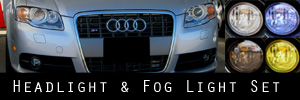 05-08 Audi A4 and S4  Headlight and Fog Light Protection Kit