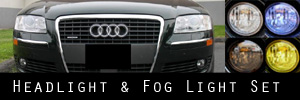 06-10 Audi A8 Headlight and Fog Light Protection Kit
