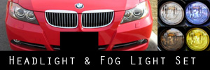 06-08 BMW 3 Series Sedan / Wagon Headlight and Fog Light Protection Kit