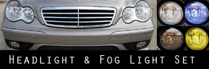 05-07 Mercedes-Benz C230, C240, C280, C320, C350 -Sport Models- Headlight and Fog Light Protection Kit