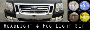 07-09 Ford Explorer Sport Trac Headlight and Fog Light Protection Kit