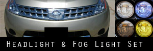 06-07 Nissan Murano Headlight and Fog Light Protection Kit