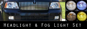 05-06 Lincoln Navigator Headlight and Fog Light Protection Kit