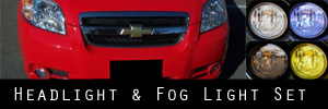07-10 Chevrolet Aveo Headlight and Fog Light Protection Kit
