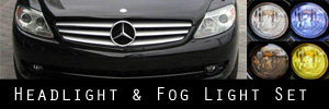 07-10 Mercedes-Benz CL550, CL600 Headlight and Fog Light Protection Kit