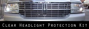 07-14 Lincoln Navigator Clear Headlight Protection Kit