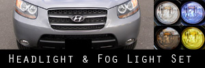 07-09 Hyundai Santa Fe Headlight and Fog Light Protection Kit