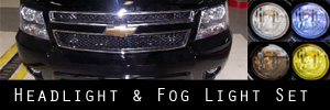 07-14 Chevrolet Tahoe and Suburban Headlight and Fog Light Protection Kit