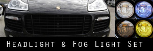08-10 Porsche Cayenne Turbo and GTS Headlight, Bumper Light, and Fog Light Protection Kit