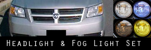 08-10 Dodge Grand Caravan Headlight and Fog Light Protection Kit