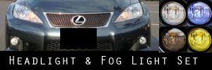 08-13 Lexus IS-F Headlight and Fog Light Protection Kit