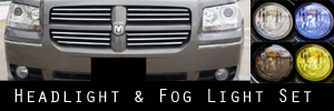 08 Dodge Magnum Headlight and Fog Light Protection Kit