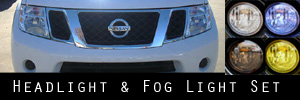 08-12 Nissan Pathfinder Headlight and Fog Light Protection Kit