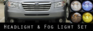08-13 Subaru Tribeca Headlight and Fog Light Protection Kit
