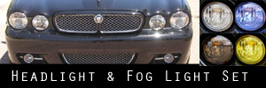 08-09 Jaguar XJ Headlight and Fog Light Protection Kit