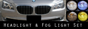 09-13 BMW 7 Series Headlight and Fog Light Protection Kit
