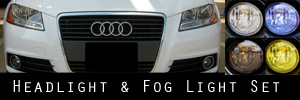 09-13 Audi A3 Headlight and Fog Light Protection Kit