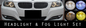09-11 BMW 3 Series Sedan / Wagon Headlight and Fog Light Protection Kit