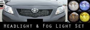 09-10 Toyota Corolla Headlight and Fog Light Protection Kit