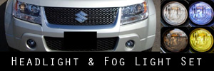 09-11 Suzuki Grand Vitara Headlight and Fog Light Protection Kit