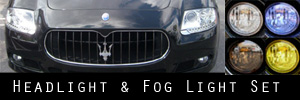 09-13 Maserati Quattroporte Headlight and Fog Light Protection Kit