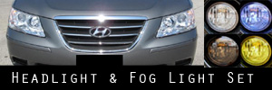 09-10 Hyundai Sonata Headlight and Fog Light Protection Kit