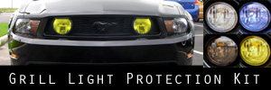 10-12 Ford Mustang GT Grill Light Protection Kit