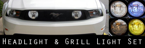 10-12 Ford Mustang GT Headlight and Grill Light Protection Kit