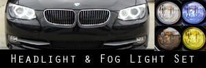 11-13 BMW 3 Series Coupe / Convertible Headlight and Fog Light Protection Kit