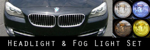 11-13 BMW 5 Series Headlight and Fog Light Protection Kit